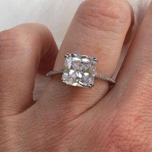 14k white gold diamond ring princess engagement